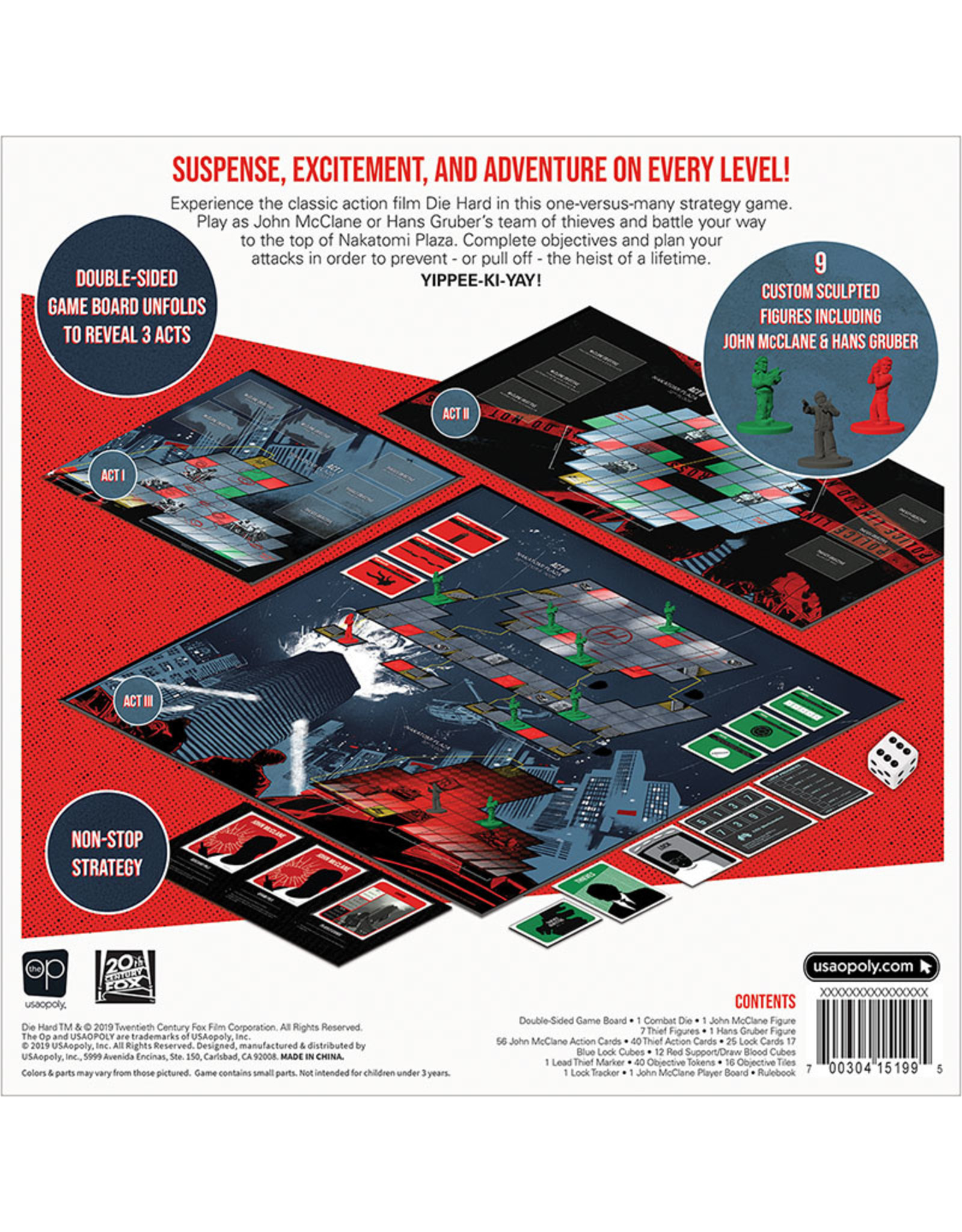 USAopoly Die Hard: The Nakatomi Heist Board Game