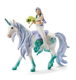 Schleich Mermaid Riding on Sea Unicorn