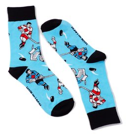 Main & Local Canadian Retro Hockey Players Socks