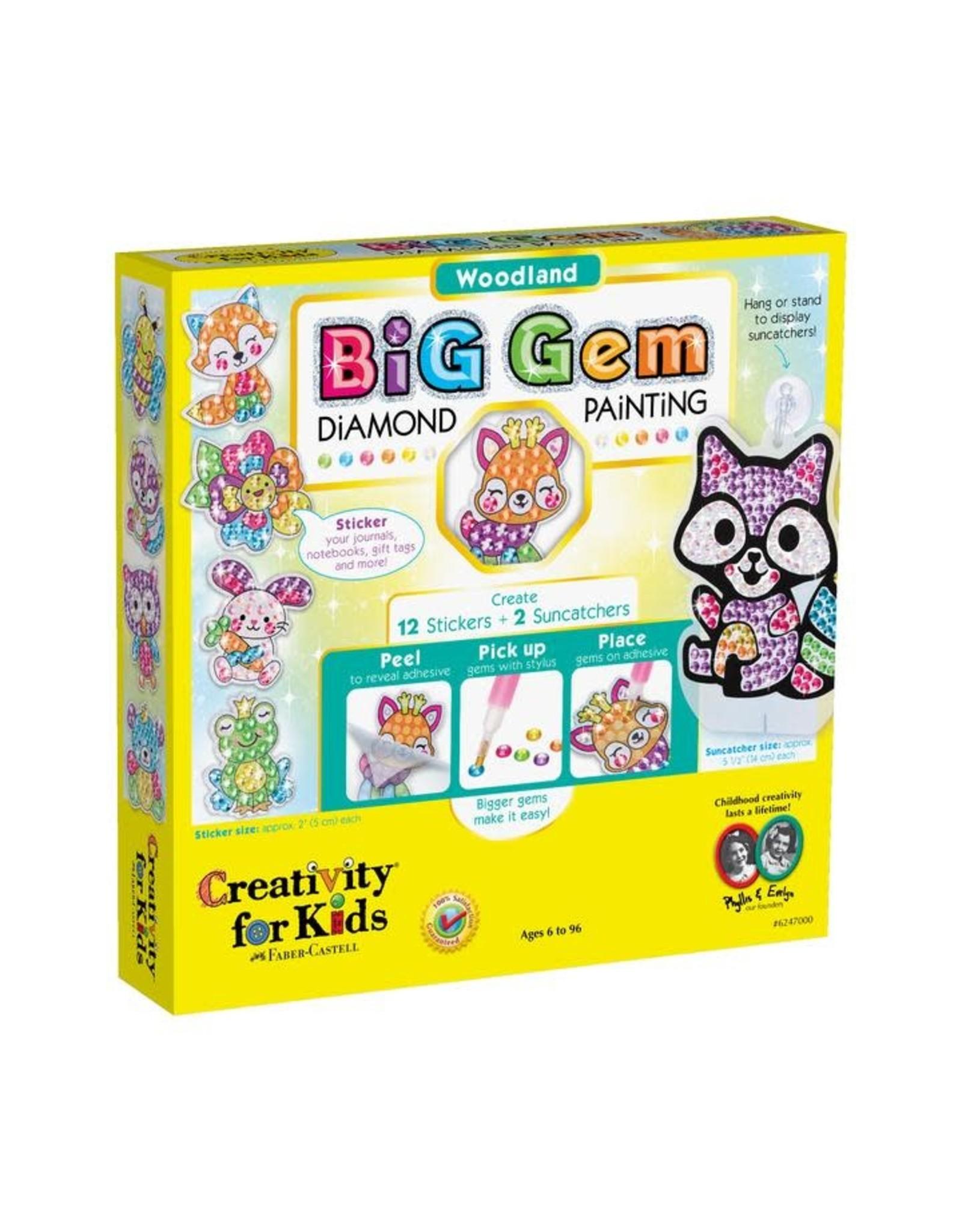 Creativity For Kids Big Gem Diamond Painting Woodland