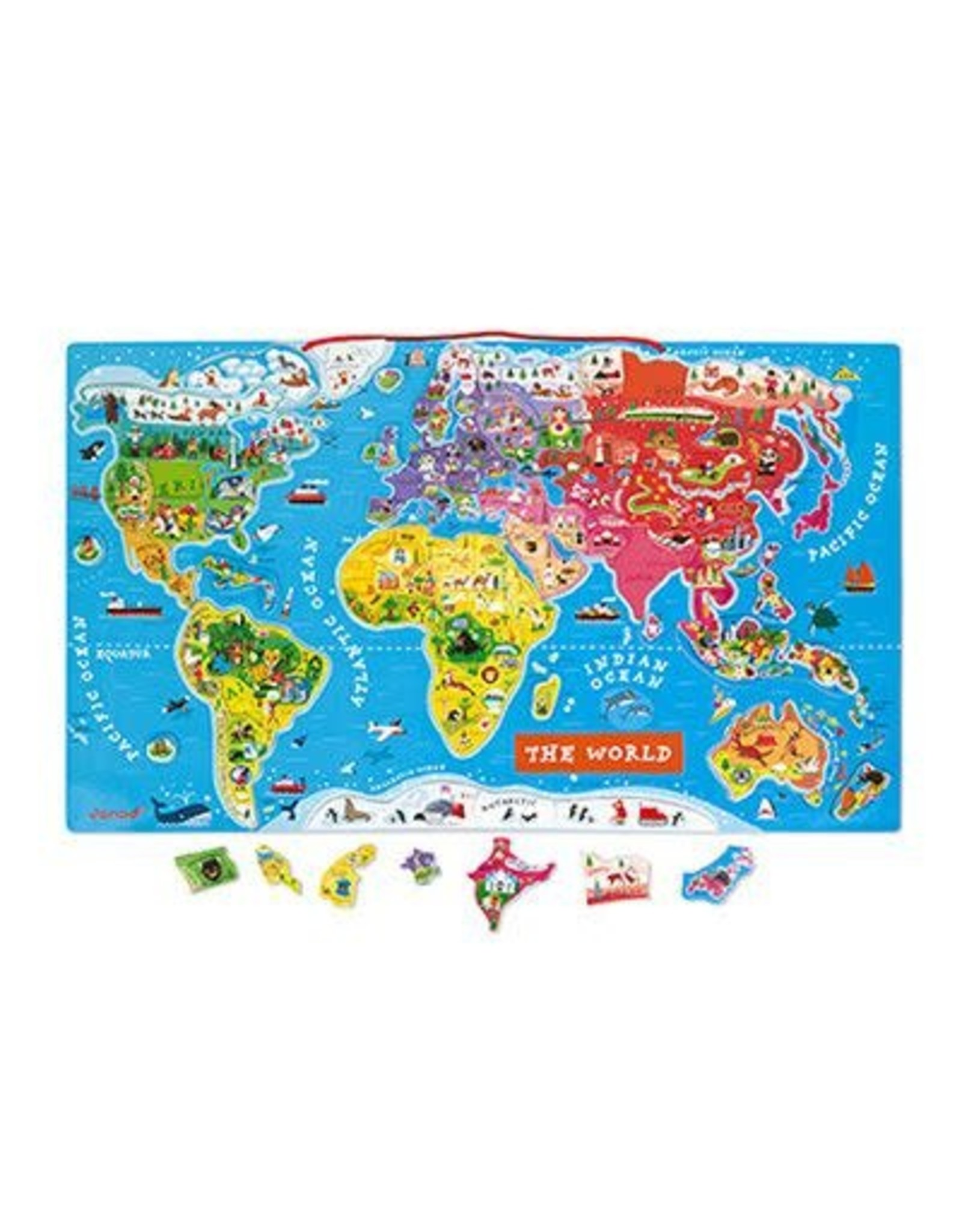 Janod Magnetic World Puzzle