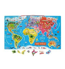 Janod Janod Magnetic World Map Puzzle