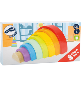 Small Foot - Wooden Building Blocks Rainbow