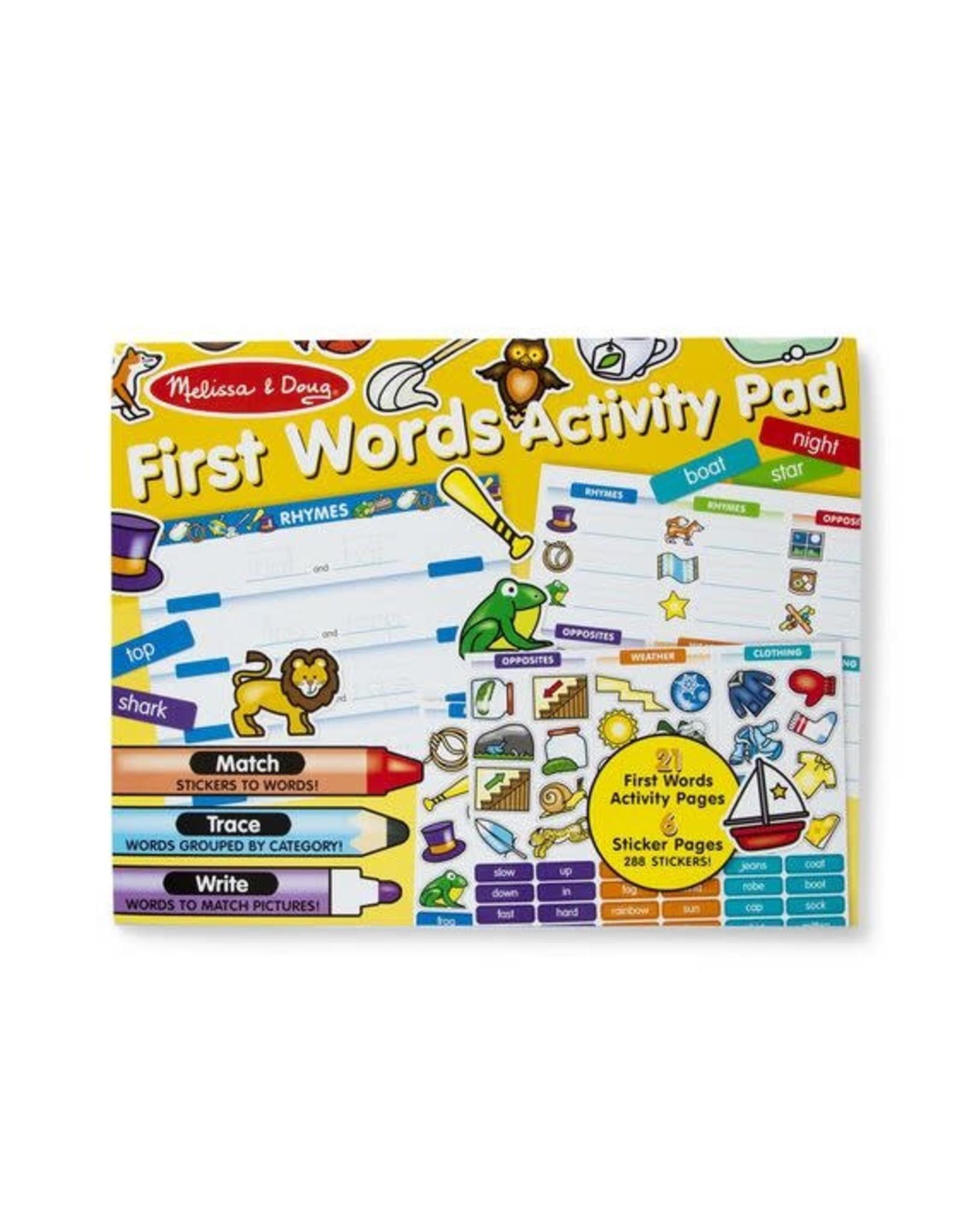 Melissa & Doug Melissa & Doug: First Words Activity Pad