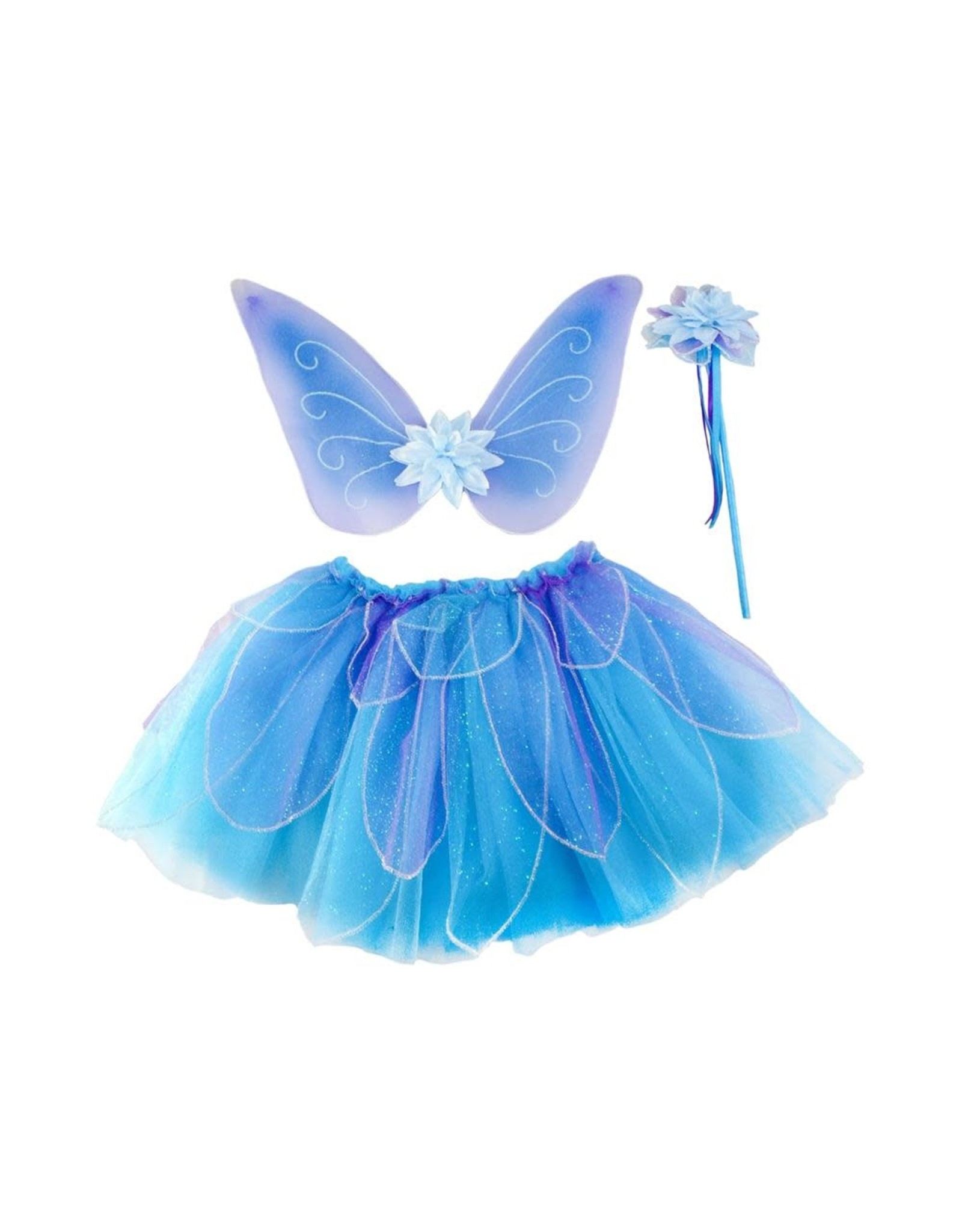 Great Pretenders Fancy Flutter Skirt/Wings/Wand Set Blue