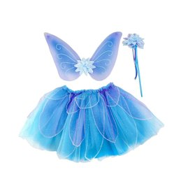 Great Pretenders Fancy Flutter Skirt/Wings/Wand Set Blue