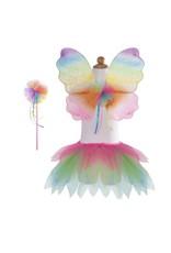 Great Pretenders Neon Rainbow Skirt with Wings & Wand