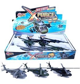 Pull Back Blackhawk Helicopter Asst.