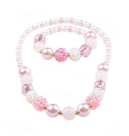Great Pretenders Pearly Pink Bracelet & Necklace Set
