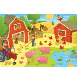 Cobble Hill Higgledy Piggledy Farm 36 pc Floor Puzzle