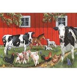 Cobble Hill Red Barn Farm Tray Puzzle