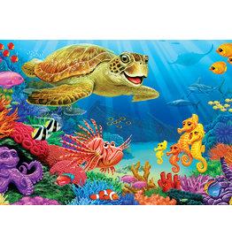 Cobble Hill Undersea Turtle Tray Puzzle
