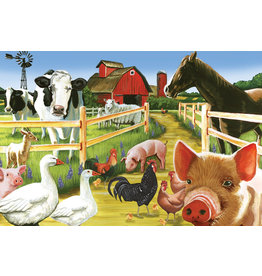 Cobble Hill Farmyard Welcome Tray Puzzle