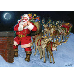 Cobble Hill Santa by the Chimney Tray Puzzle
