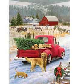 Cobble Hill Red Truck Farm Tray Puzzle