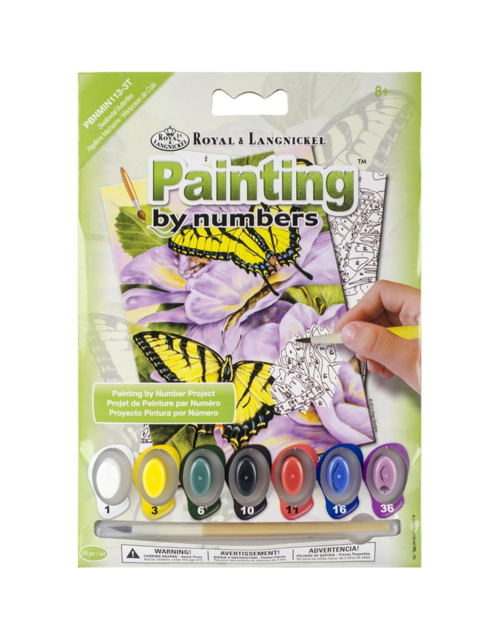 Royal & Langnickel Paint by Number: Swallowtail Butterflies