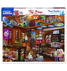 White Mountain Puzzles Toy Shop Seek & Find 1000 pc puzzle
