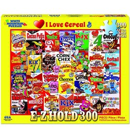 White Mountain Puzzles I Love Cereal 300 pc E-Z Hold puzzle