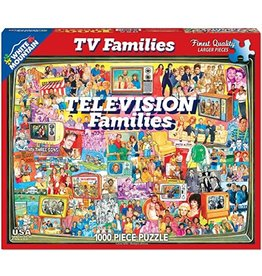 White Mountain Puzzles TV Families 1000 pc