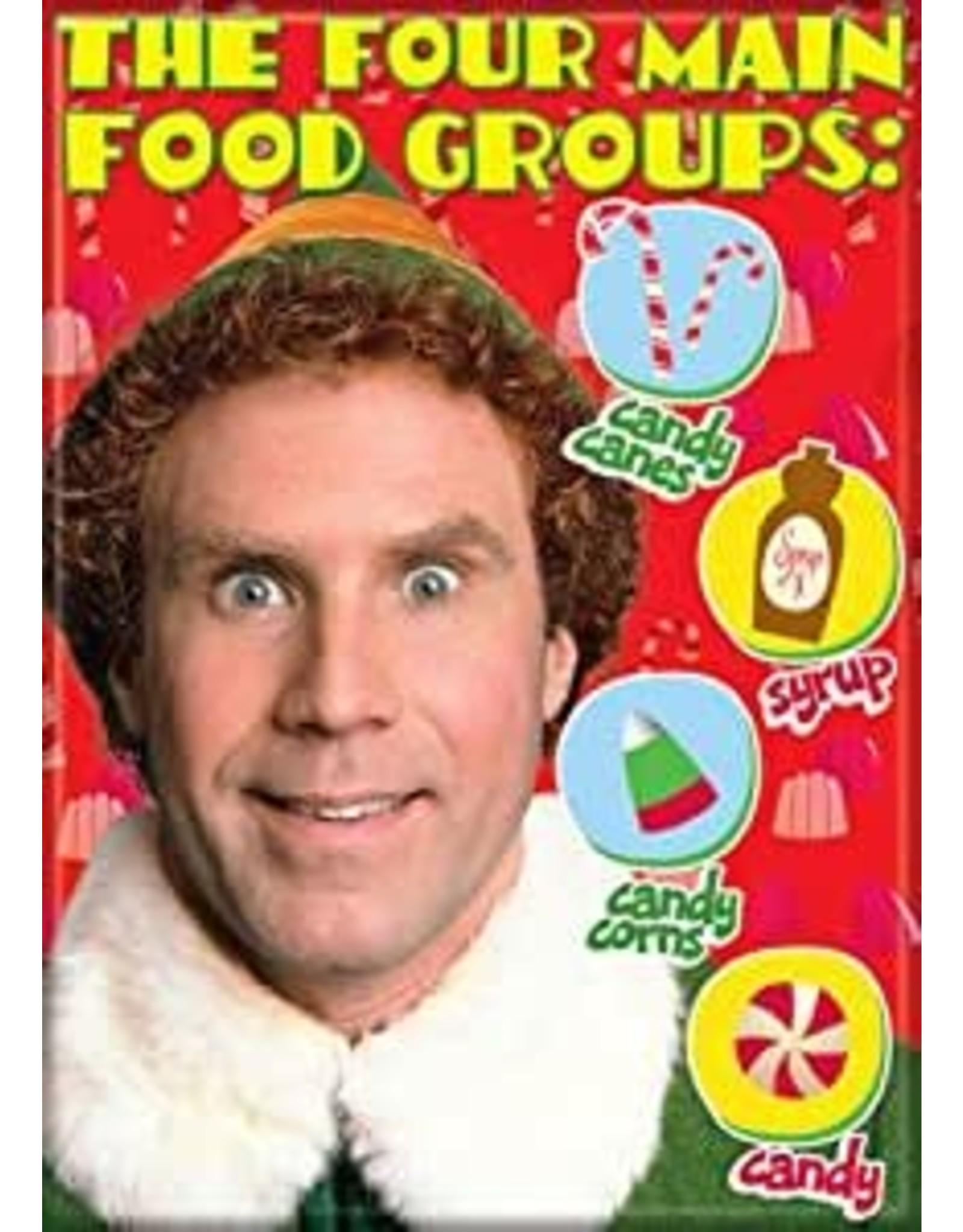 Elf Four Main Food Groups Flat Magnet