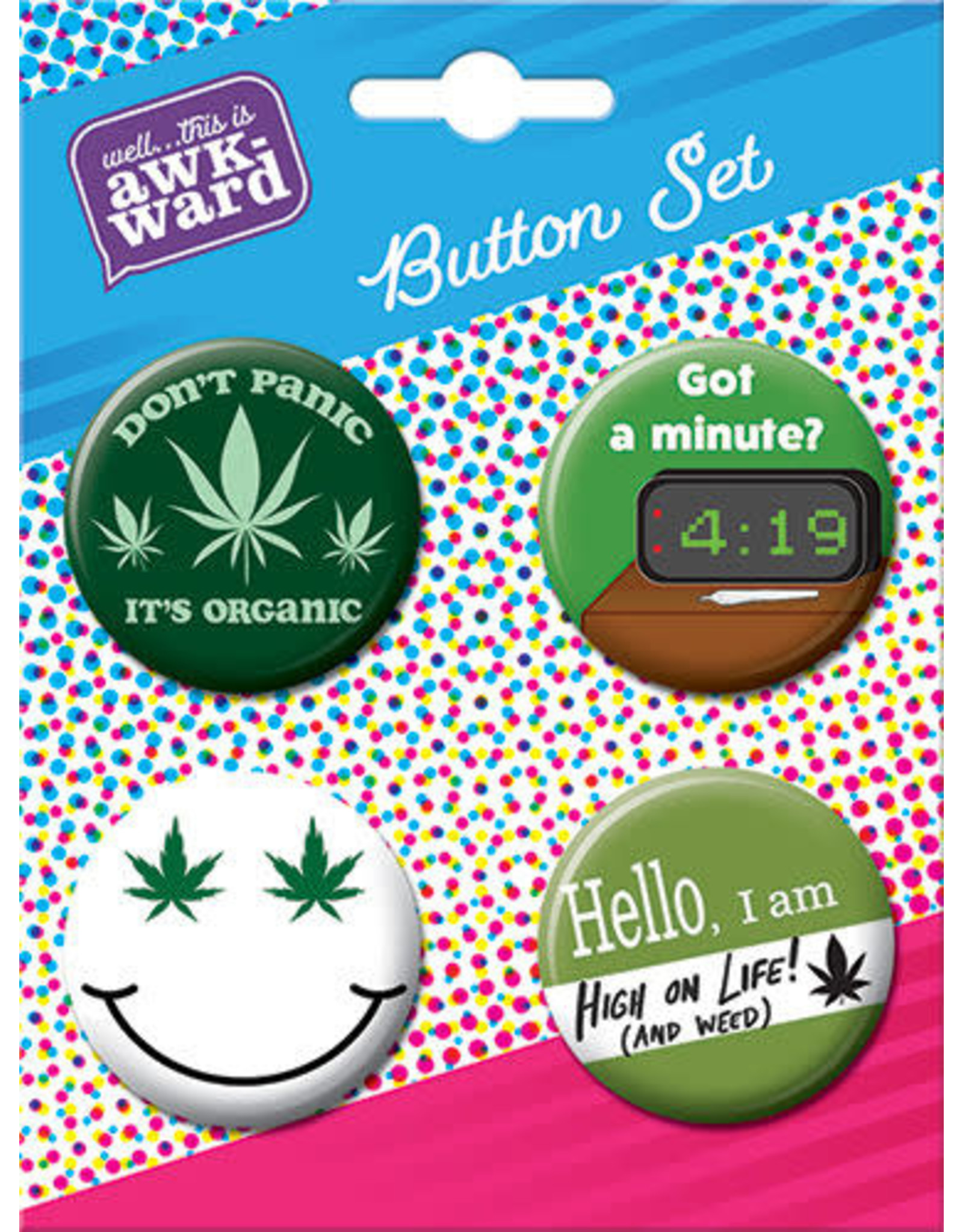 Weed 4 Button Set