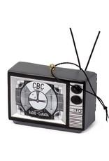 Main & Local TV -  Black & White Signal Ornament