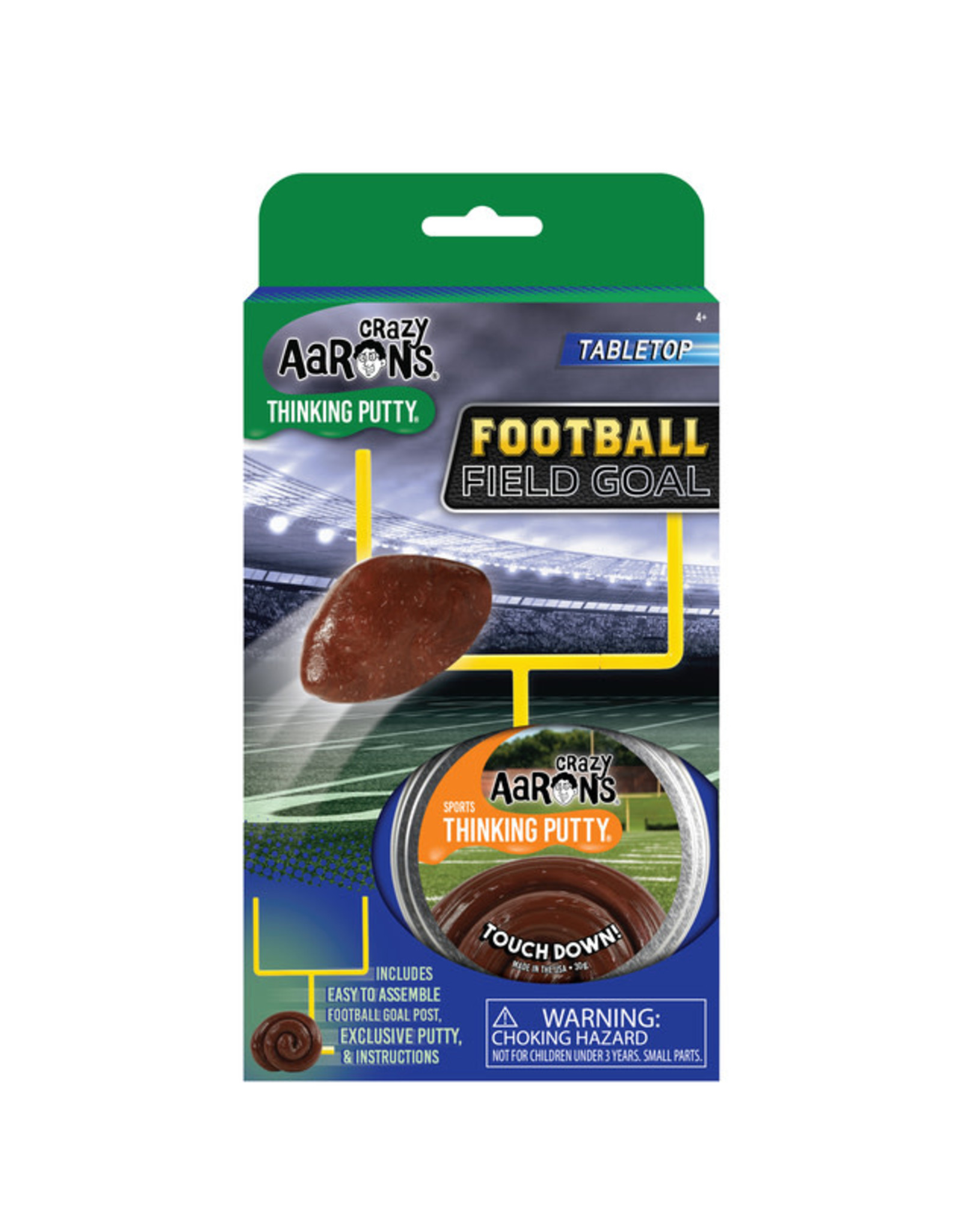 Crazy Aaron's Crazy Aaron's Sports Putty - Football Field Goal Touchdown!