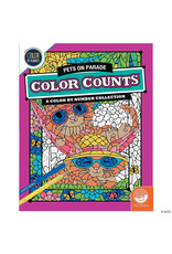 Mindware Color Counts Color By Number: Pets on Parade