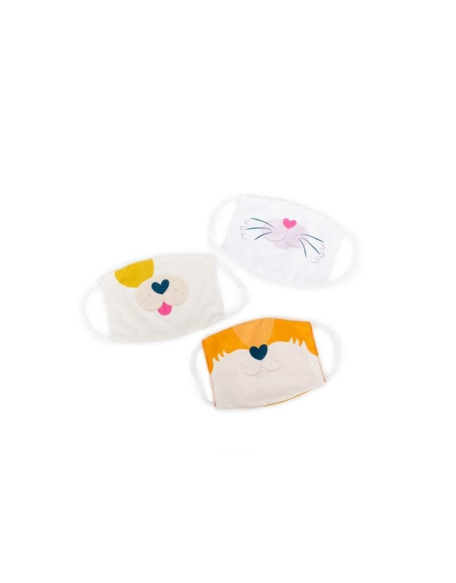 Educational Insights Kids' Face Masks 3-Pack Puppy, Kitty, Fox Set