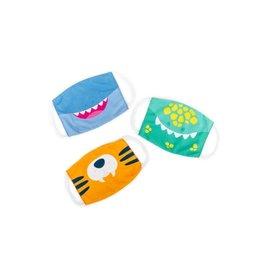 Educational Insights Kids' Face Masks 3-Pack Dinosaur, Tiger, Shark Set