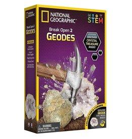 Incredible Novelties National Geographic Break Open 2 Real Geodes