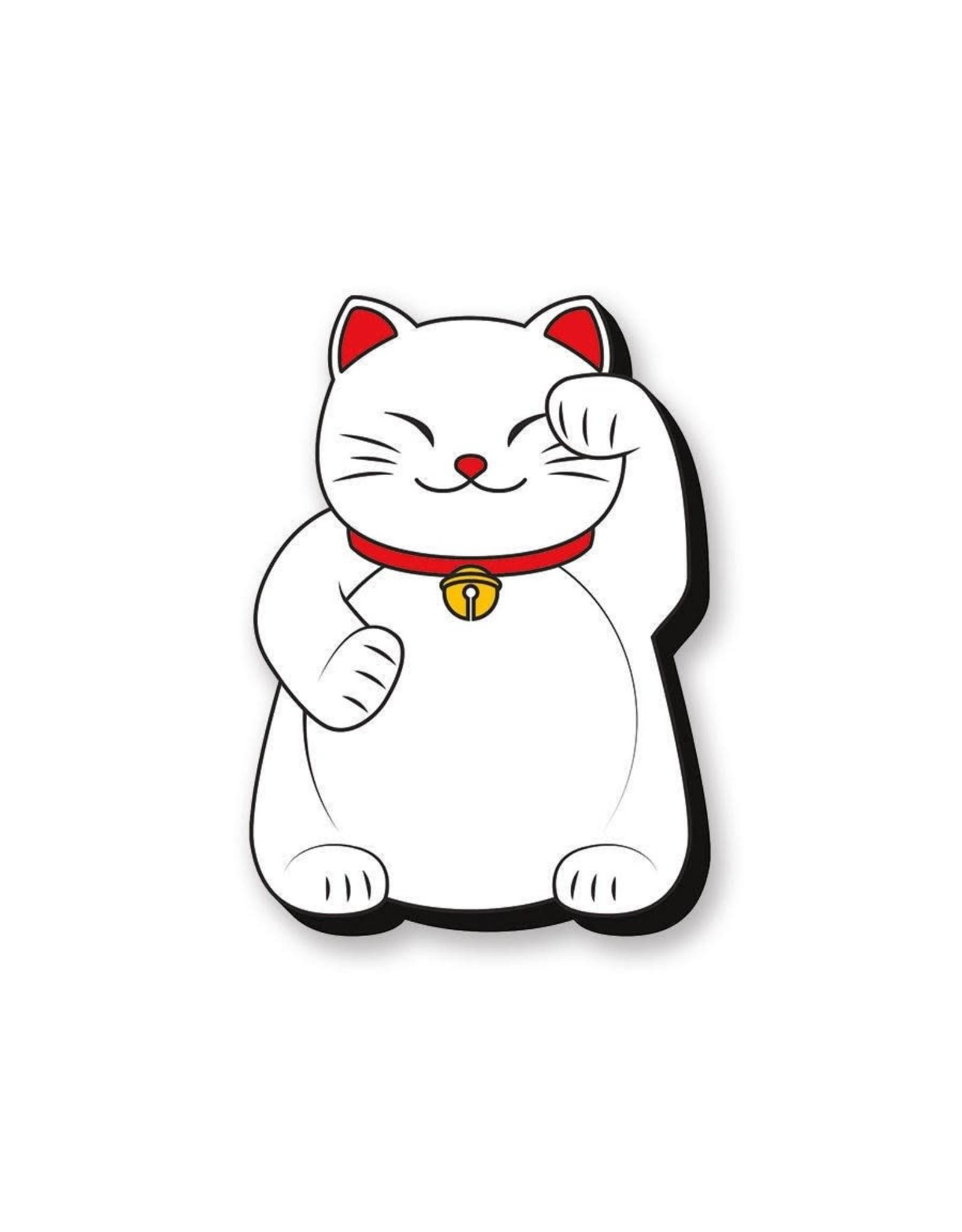 Lucky Cat Left Funky Chunky Magnet