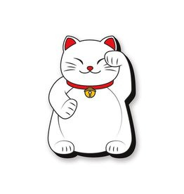 Lucky Cat Left Funky Chunky Magnet