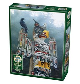 Cobble Hill Totem Pole in the Mist 1000 pc