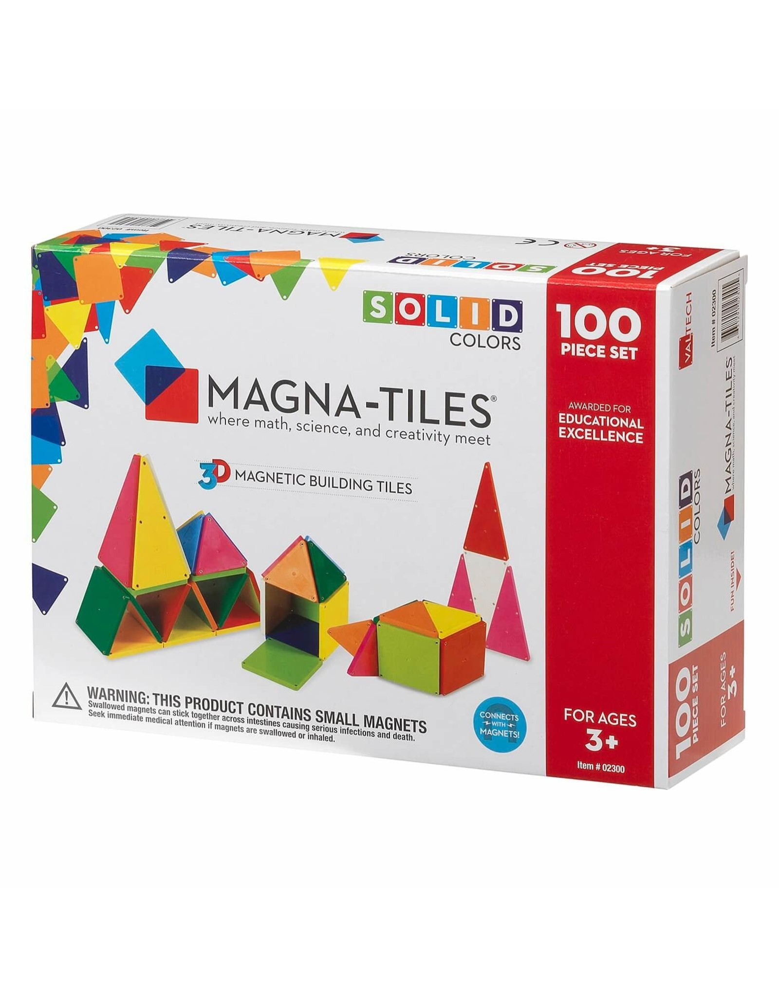 Magna-Tiles Magna-Tiles Solid Colors 100 pc