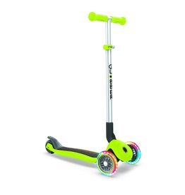 Globber Scooters & Bikes Globber Primo Foldable with Lights - Green