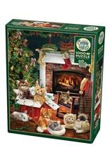 Cobble Hill Christmas Kittens 1000pc