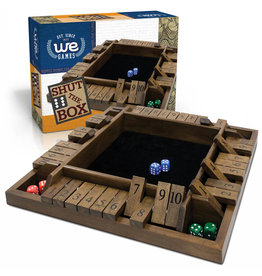 Shut the Box - 4 Player Wood Travel Size