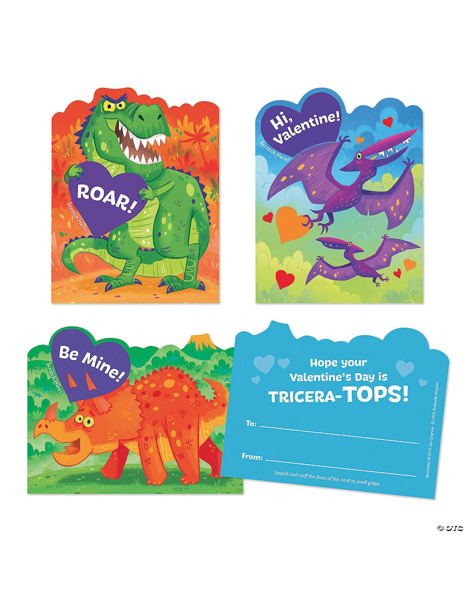 Peaceable Kingdom Dinosaur Scratch & Sniff Valentines