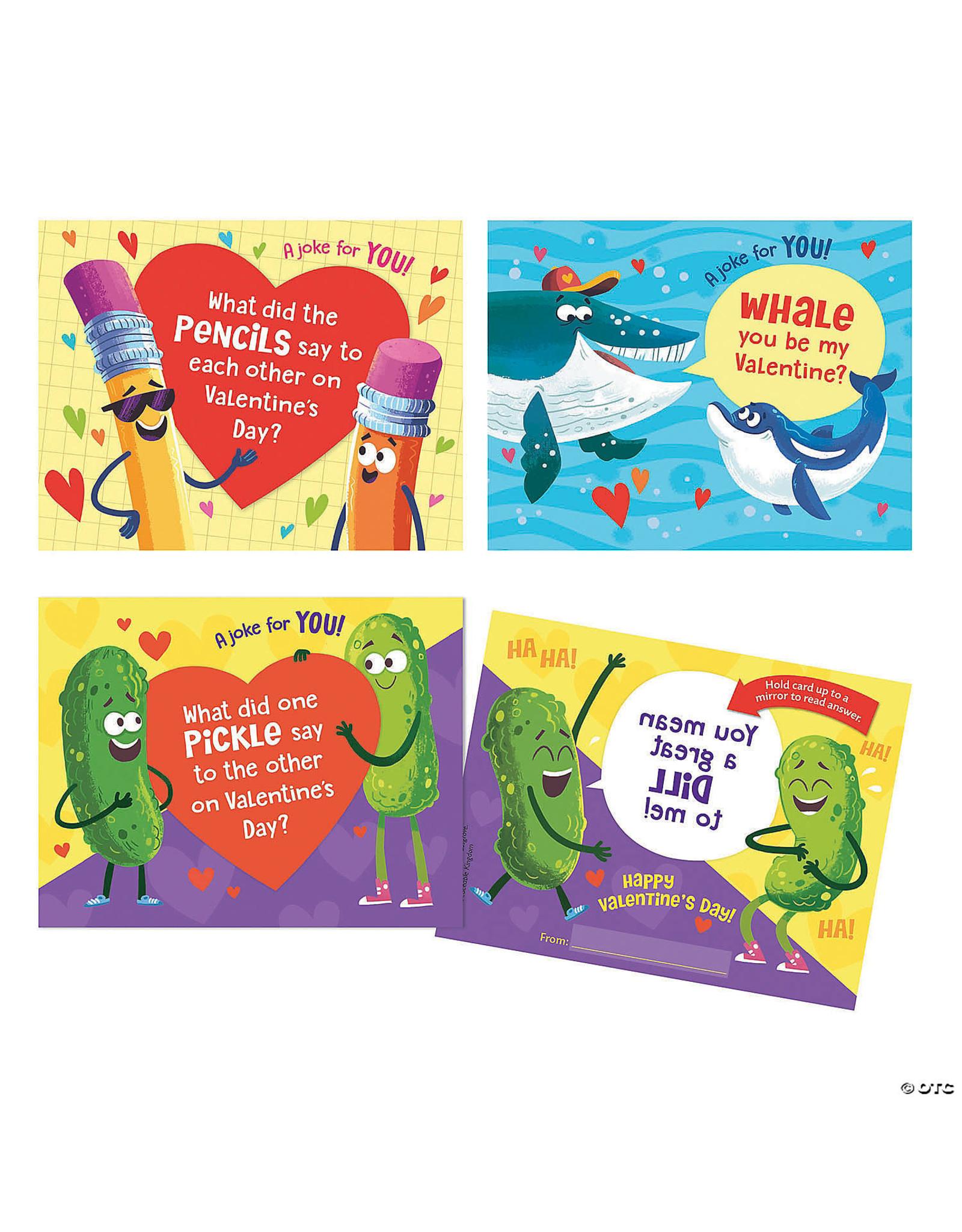 Peaceable Kingdom Valentine Joke Card Pack