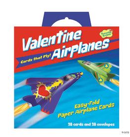 Peaceable Kingdom Paper Airplane Super Fun Valentines Pack