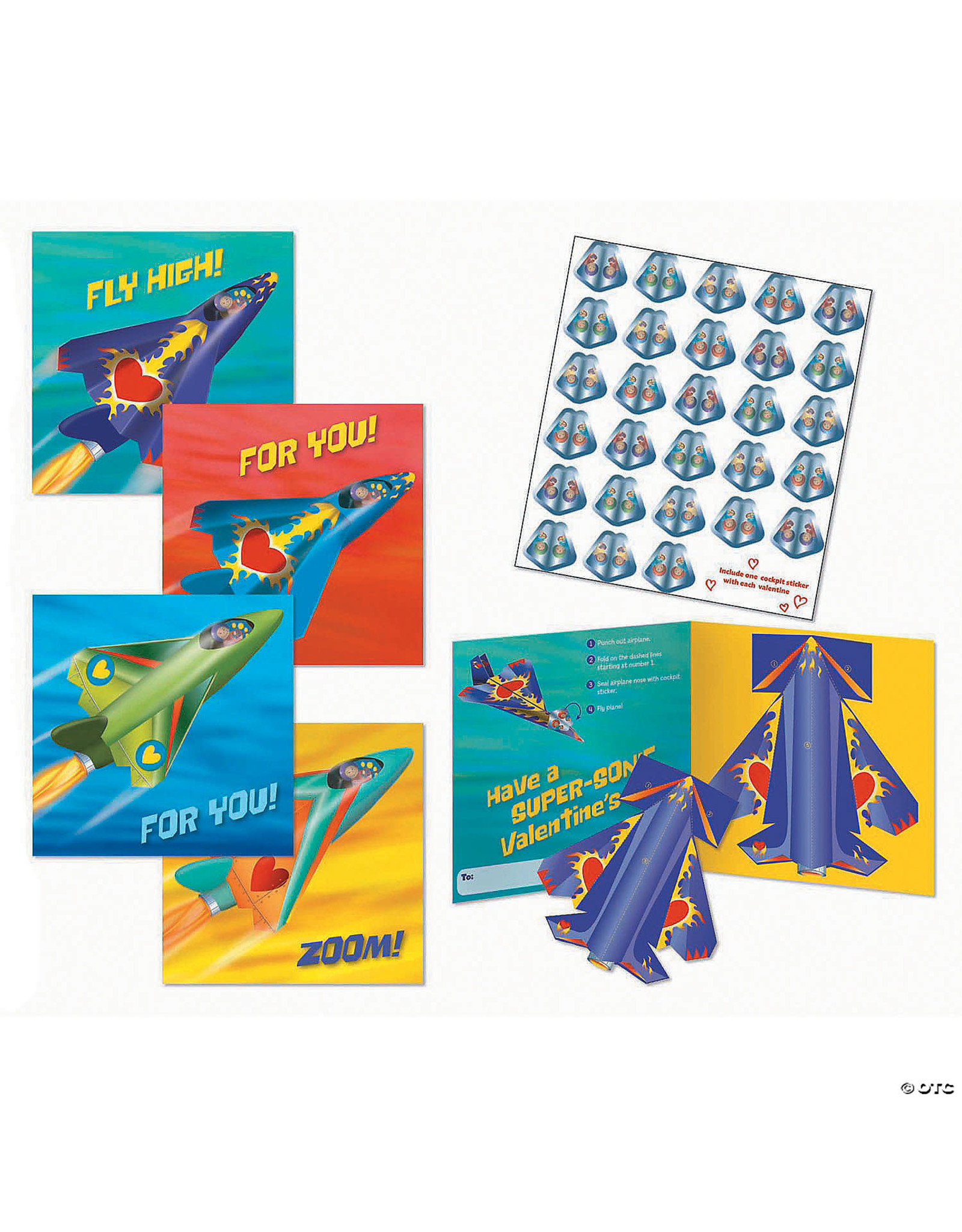 Peaceable Kingdom Paper Airplane Super Fun Valentines Pack