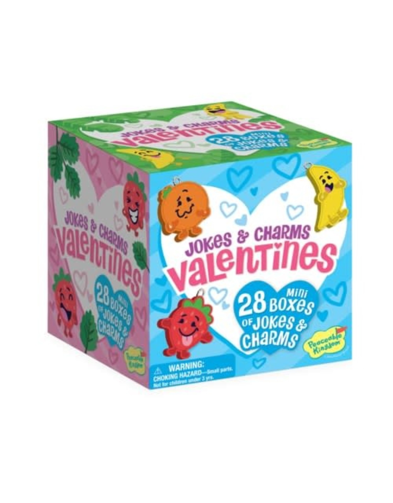 Peaceable Kingdom Silly Jokes with Charms Mini Box Valentines