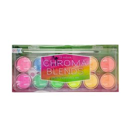 Ooly Chroma Blends Watercolor 13 pc Paint Set - Neon