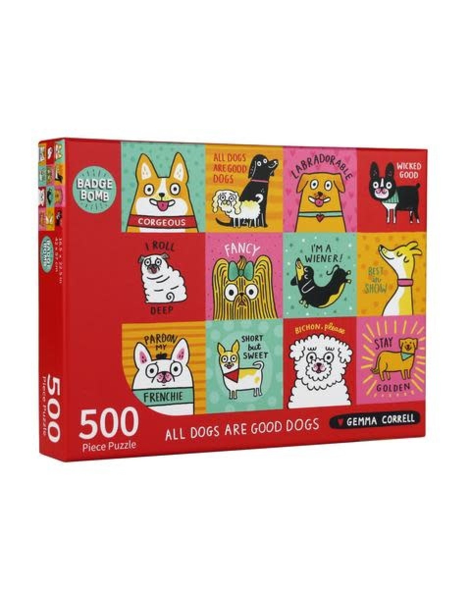 All Dogs are Good Dogs 500 pc Puzzle