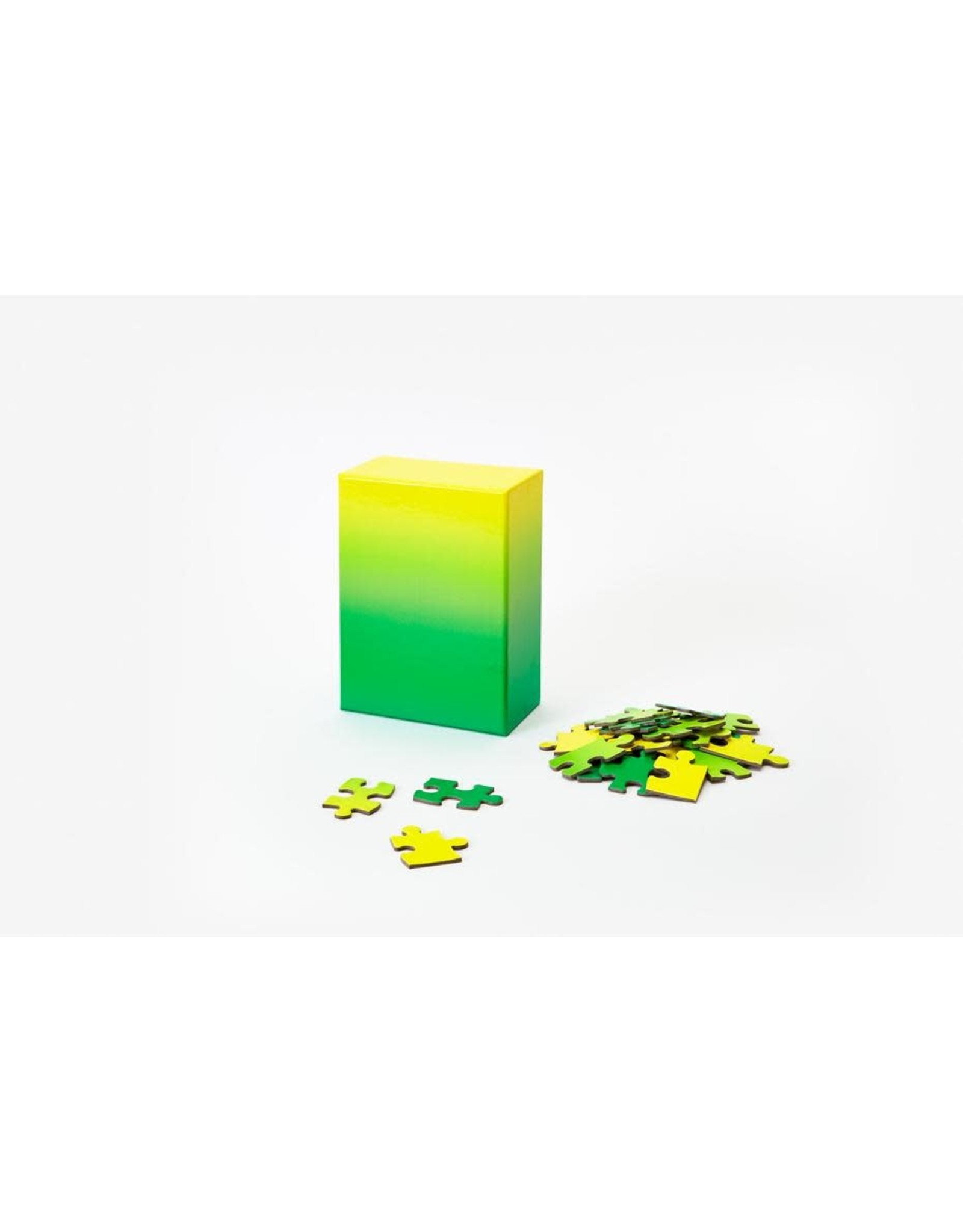 Gradient Puzzle - Green/Yellow 100pc