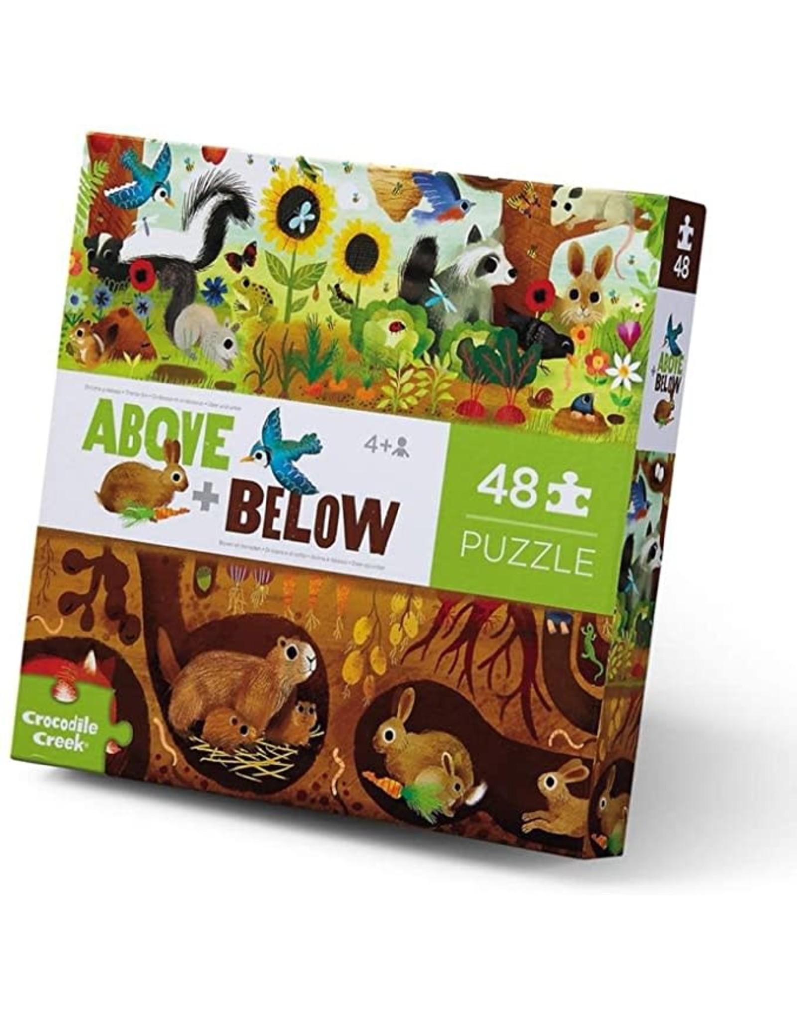 Crocodile Creek Above & Below/Backyard Discovery 48pc Floor Puzzle