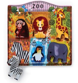 Crocodile Creek At the Zoo 6pc Wood Puzzle