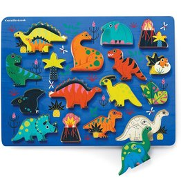 Crocodile Creek Dinosaur 16pc Wood Puzzle
