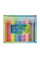 Ooly Chroma Blends Watercolor Brush Markers - 18 pc